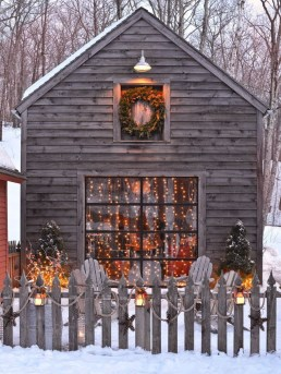 Beautiful Rustic Outdoor Christmas Decoration Ideas 01