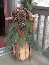 Beautiful Rustic Outdoor Christmas Decoration Ideas 21