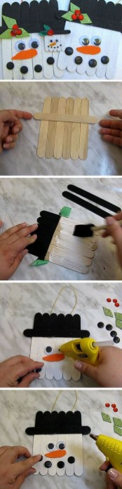 Cute And Cool Snowman Christmas Decoration Ideas 05