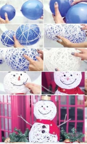 Cute And Cool Snowman Christmas Decoration Ideas 24