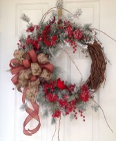 Elegant Rustic Christmas Wreaths Decoration Ideas To Celebrate Your Holiday 22
