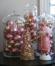 Gorgeous Pink And Gold Christmas Decoration Ideas 08