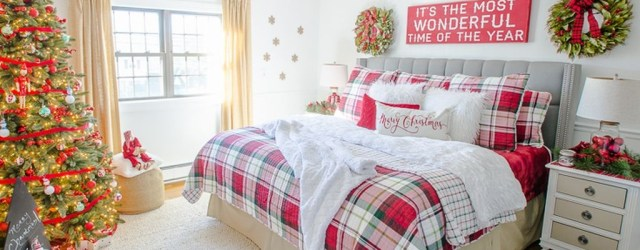 Simple Christmas Bedroom Decoration Ideas 28