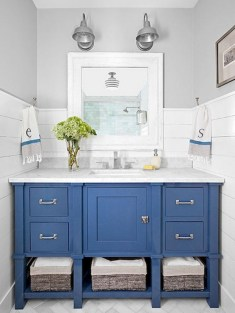36 Cool Blue Bathroom Design Ideas 12