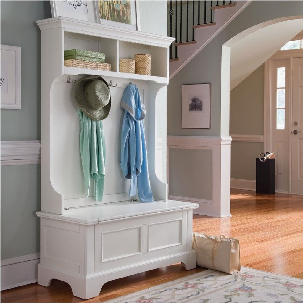 38 Brilliant Hallway Storage Decoration Ideas20