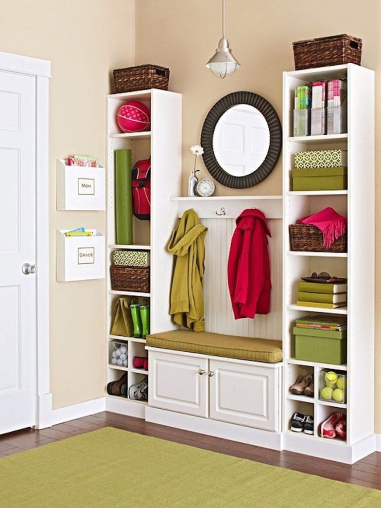 38 Brilliant Hallway Storage Decoration Ideas21