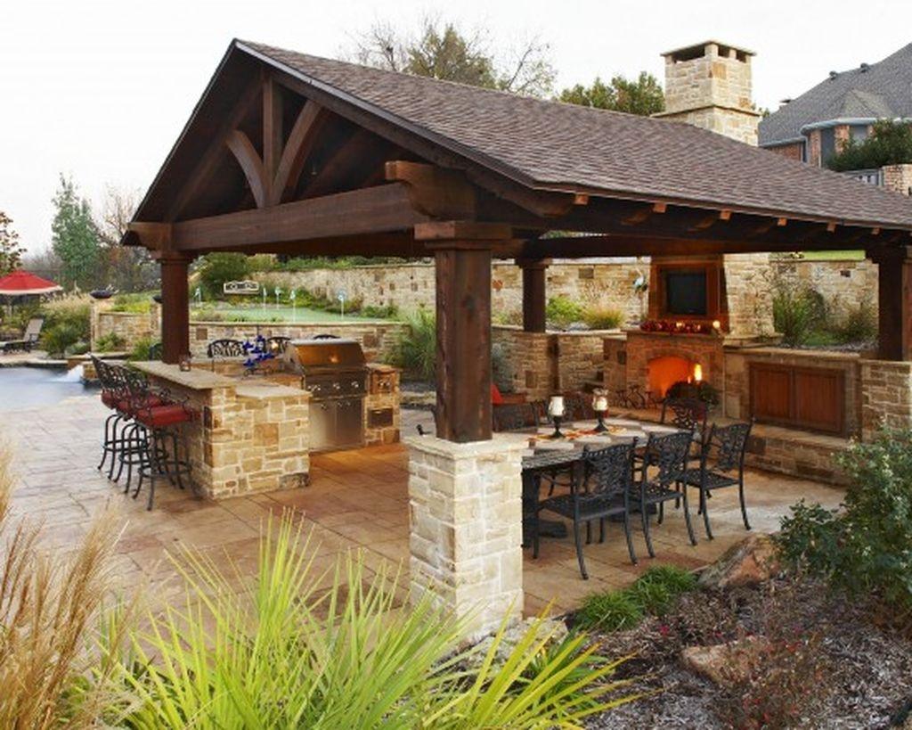 38 Cool Outdoor Kitchen Design Ideas 24