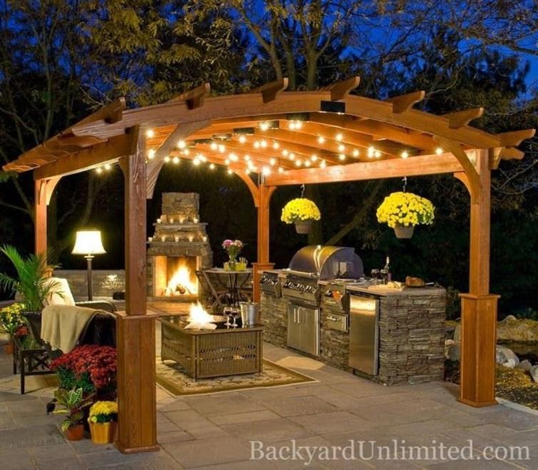 38 Cool Outdoor Kitchen Design Ideas 34