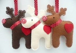 39 Brilliant Ideas How To Use Felt Ornaments For Christmas Tree Decoration 24