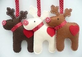 39 Brilliant Ideas How To Use Felt Ornaments For Christmas Tree Decoration 24