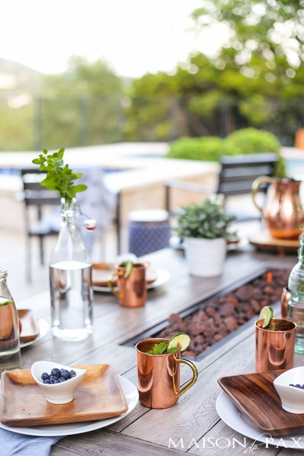 Adorable Outdoor Dining Area Furniture Ideas 23