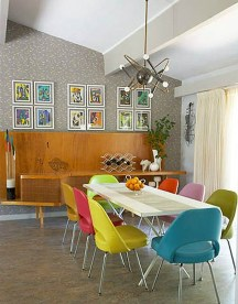 Bright And Colorful Dining Room Design Ideas 05
