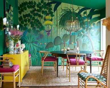 Bright And Colorful Dining Room Design Ideas 28
