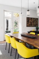 Bright And Colorful Dining Room Design Ideas 37