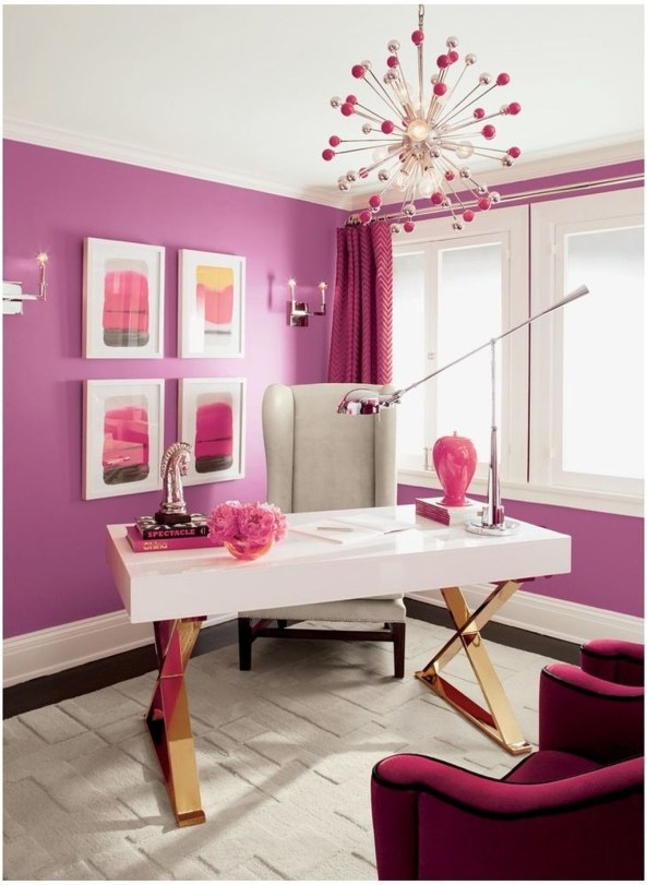 Colorful Home Office Design Ideas You Will Totally Love 37
