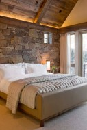Elegant Rustic Bedroom Brick Wall Decoration Ideas 01