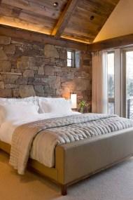Elegant Rustic Bedroom Brick Wall Decoration Ideas 01
