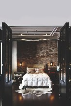 Elegant Rustic Bedroom Brick Wall Decoration Ideas 49
