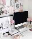 Elegant And Exquisite Feminine Home Office Design Ideas 07