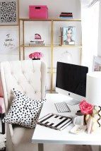 Elegant And Exquisite Feminine Home Office Design Ideas 09