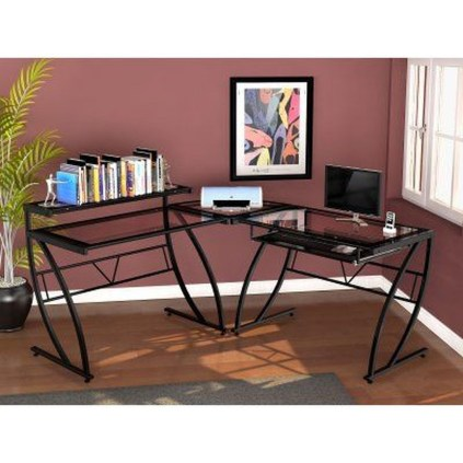 Futuristic L Shaped Desk Design Ideas 01