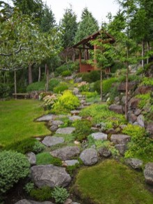 Relaxing Japanese Inspired Front Yard Decoration Ideas 03