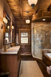 Simple And Cozy Wooden Bathroom Remodel Ideas 16