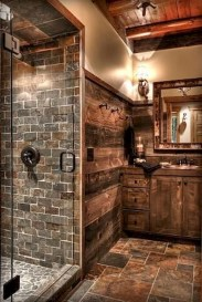 Simple And Cozy Wooden Bathroom Remodel Ideas 30