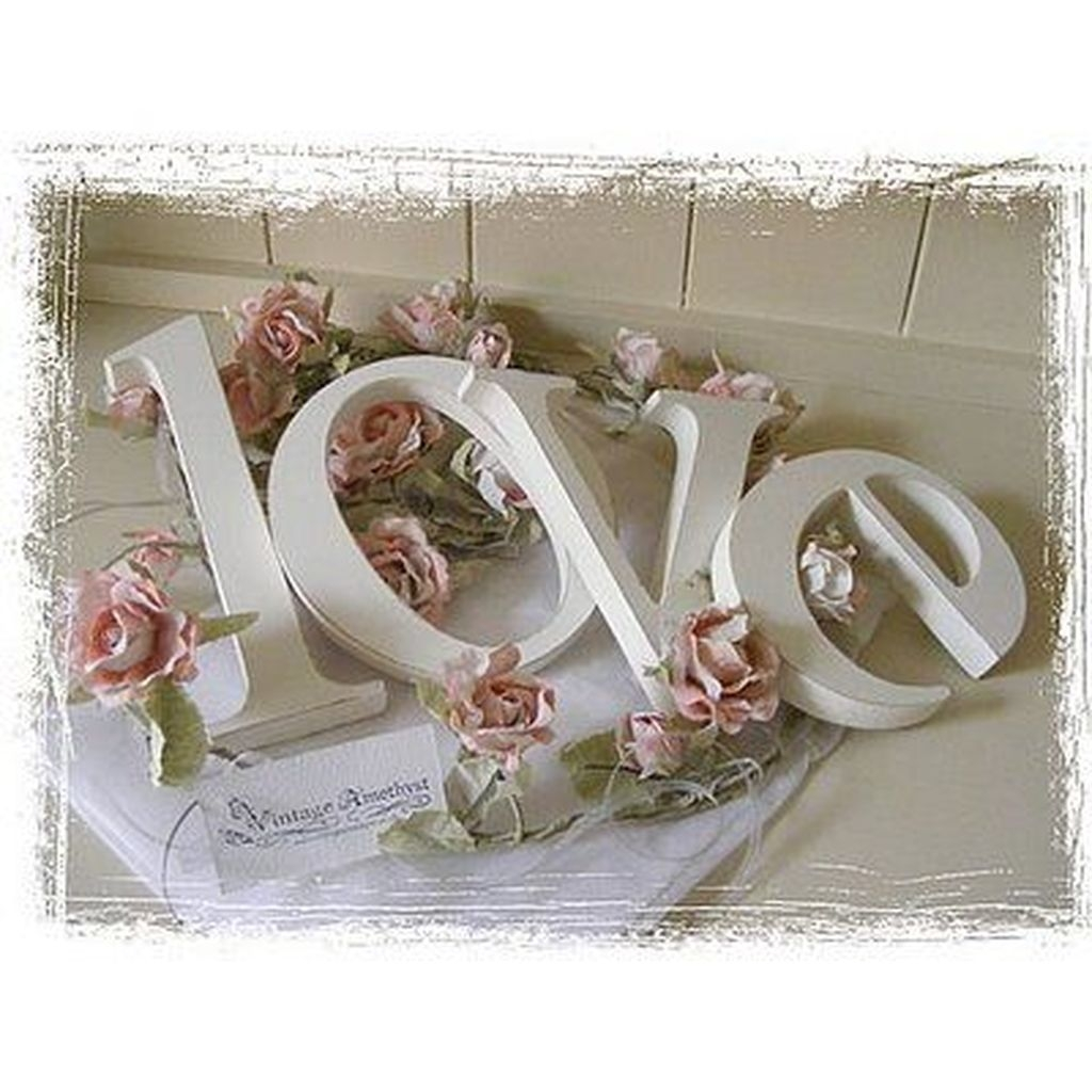 Cute Shabby Chic Valentines Decoration Ideas For Your Home 06