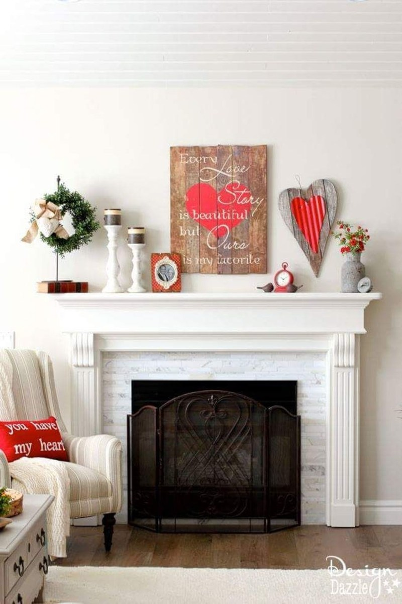 Inspiring Valentines Day Fireplace Decoration Ideas 02