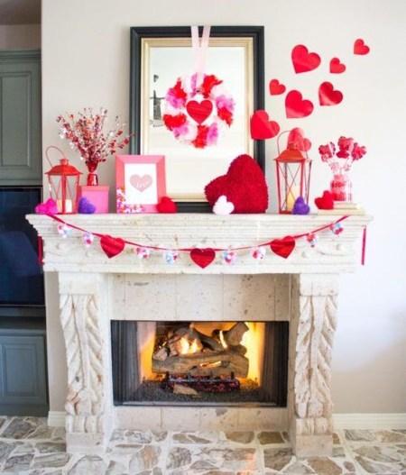 Inspiring Valentines Day Fireplace Decoration Ideas 14