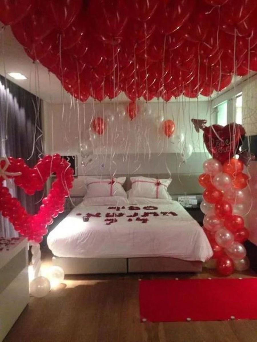 Romantic Valentines Bedroom Decoration Ideas 26