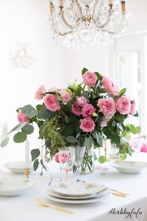 Romantic Valentines Day Dining Room Decoration Ideas 05