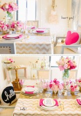 Romantic Valentines Day Dining Room Decoration Ideas 34