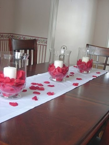 44 romantic valentines day dining room decoration ideas - Valentines room decoration ideas ...
