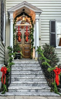 Stunning Front Door Decoration Ideas For Winter 13
