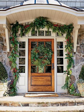 Stunning Front Door Decoration Ideas For Winter 26