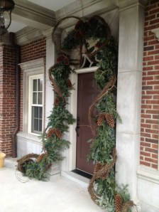 Stunning Front Door Decoration Ideas For Winter 28