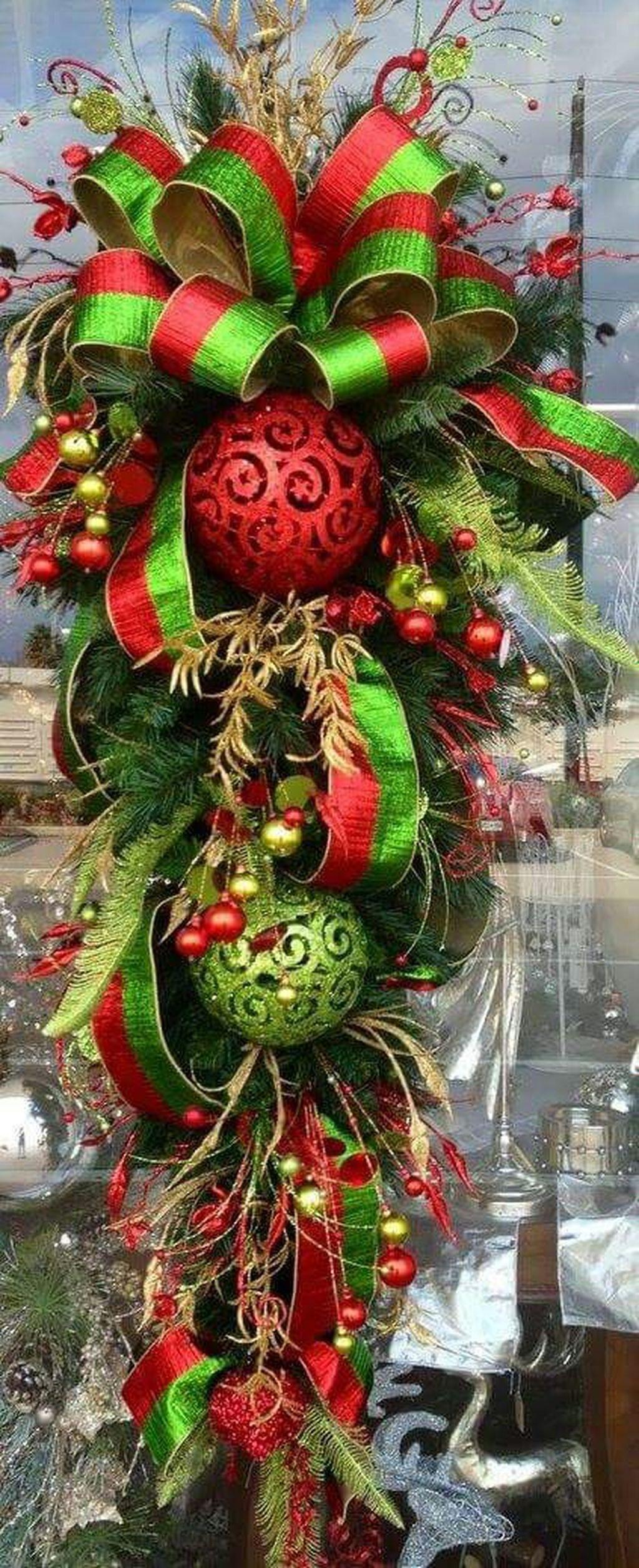 Stunning Front Door Decoration Ideas For Winter 36