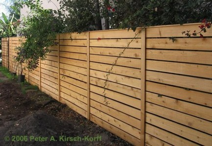 Adorable Wooden Privacy Fence Patio Backyard Landscaping Ideas 02