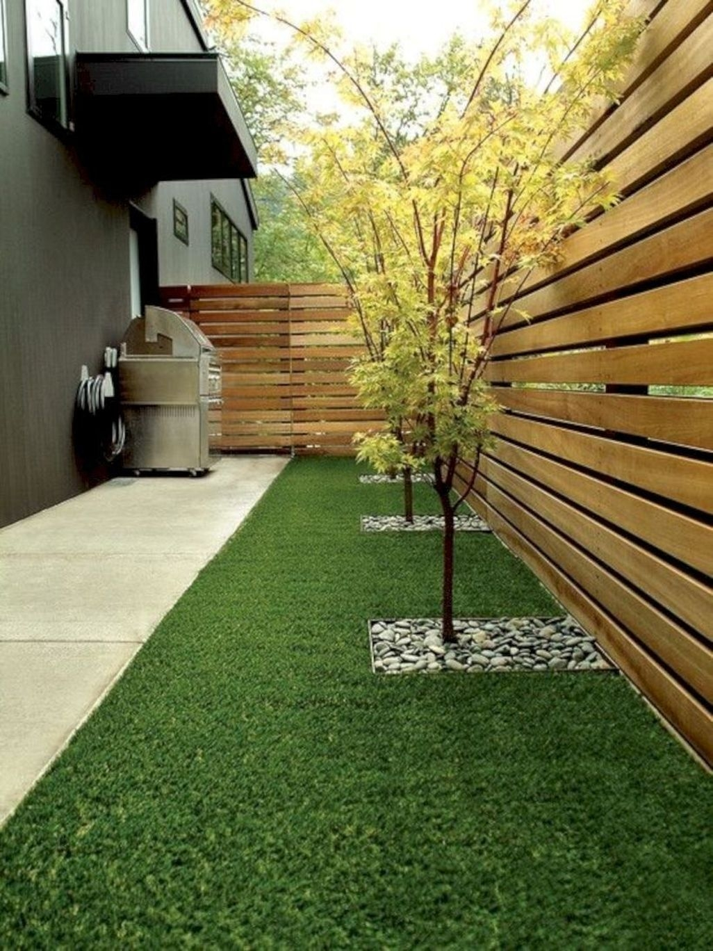 Adorable Wooden Privacy Fence Patio Backyard Landscaping Ideas 03