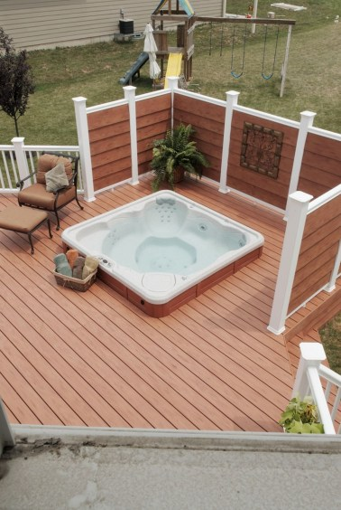 Adorable Wooden Privacy Fence Patio Backyard Landscaping Ideas 06