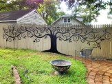 Adorable Wooden Privacy Fence Patio Backyard Landscaping Ideas 09