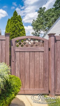 Adorable Wooden Privacy Fence Patio Backyard Landscaping Ideas 16