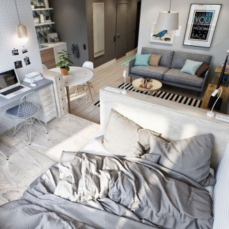 Cozy Apartment Studio Decoration Ideas 21