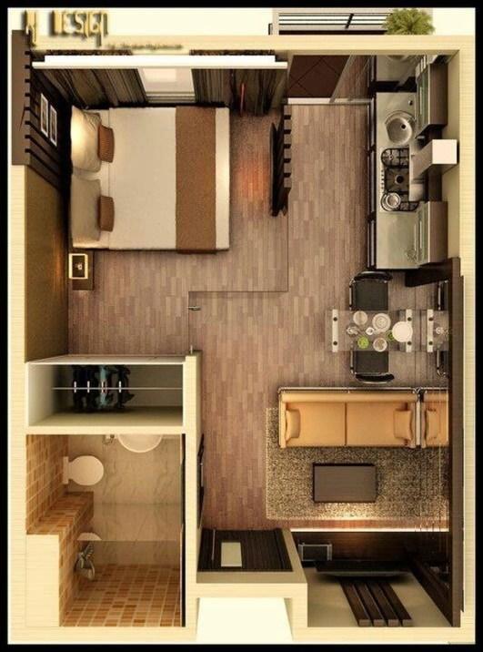 Cozy Apartment Studio Decoration Ideas 41