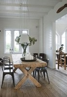 Inspiring Rustic Farmhouse Dining Room Design Ideas 13