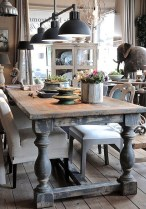 Inspiring Rustic Farmhouse Dining Room Design Ideas 34