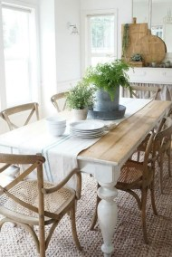 Inspiring Rustic Farmhouse Dining Room Design Ideas 39