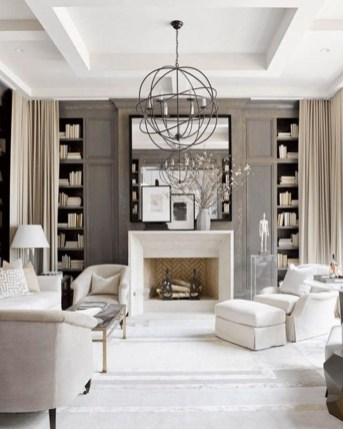 Warm And Cozy Classic Winter Home Decoration Ideas 44